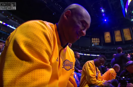 Magic Johnson, NBA Stars Salute Kobe Bryant Before Final Game
