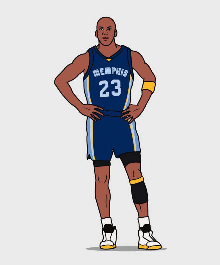 Michael Jordan '73 Stopper' Illustration