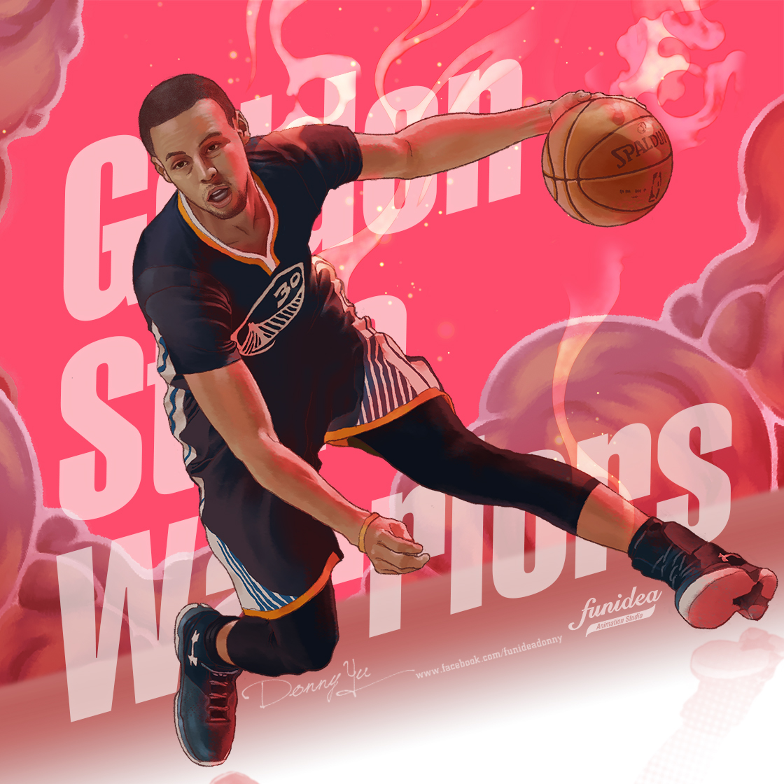 Michael Jordan vs Stephen Curry Illustration