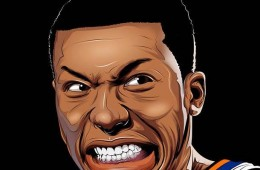 Nate Robinson Grinning Illustration