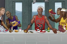 NBA Superstar Last Supper Illustration