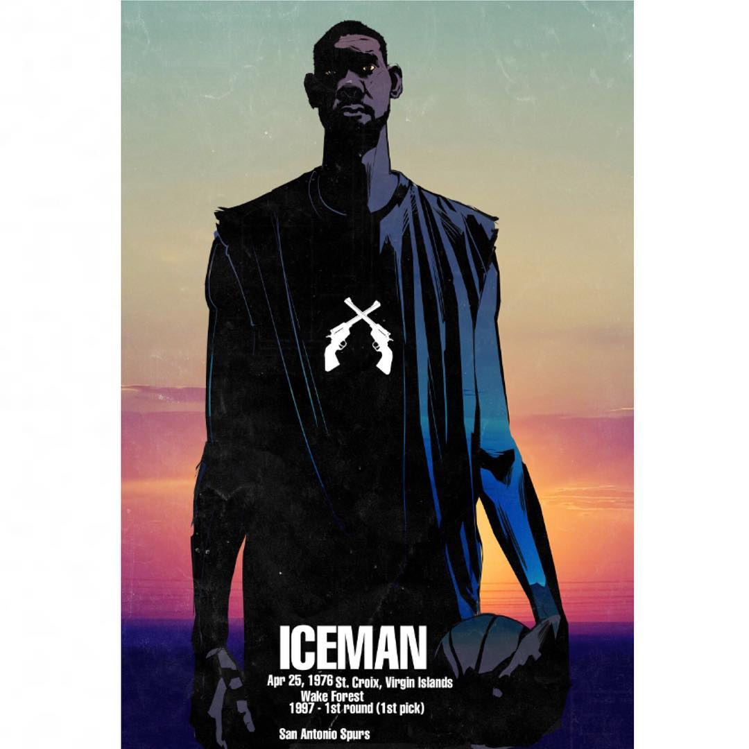 Tim Duncan Iceman Illustration