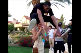 Watch Jordan Clarkson Jump Over Kendall Jenner at Coachella