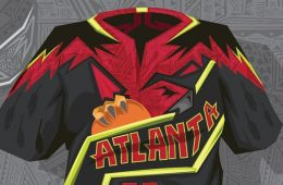 Atlanta Hawks Dashiki Illustration