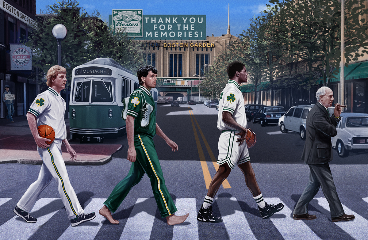 Celtics x Beatles Illustration