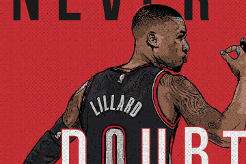 Damian Lillard Never Doubt Rip City Illustration