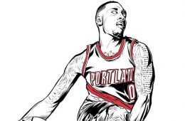 Damian Lillard New Wave Illustration