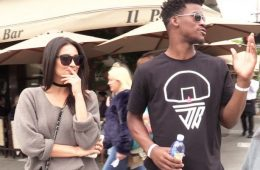 Jimmy Butler and Shay Mitchell On A Lunch Date