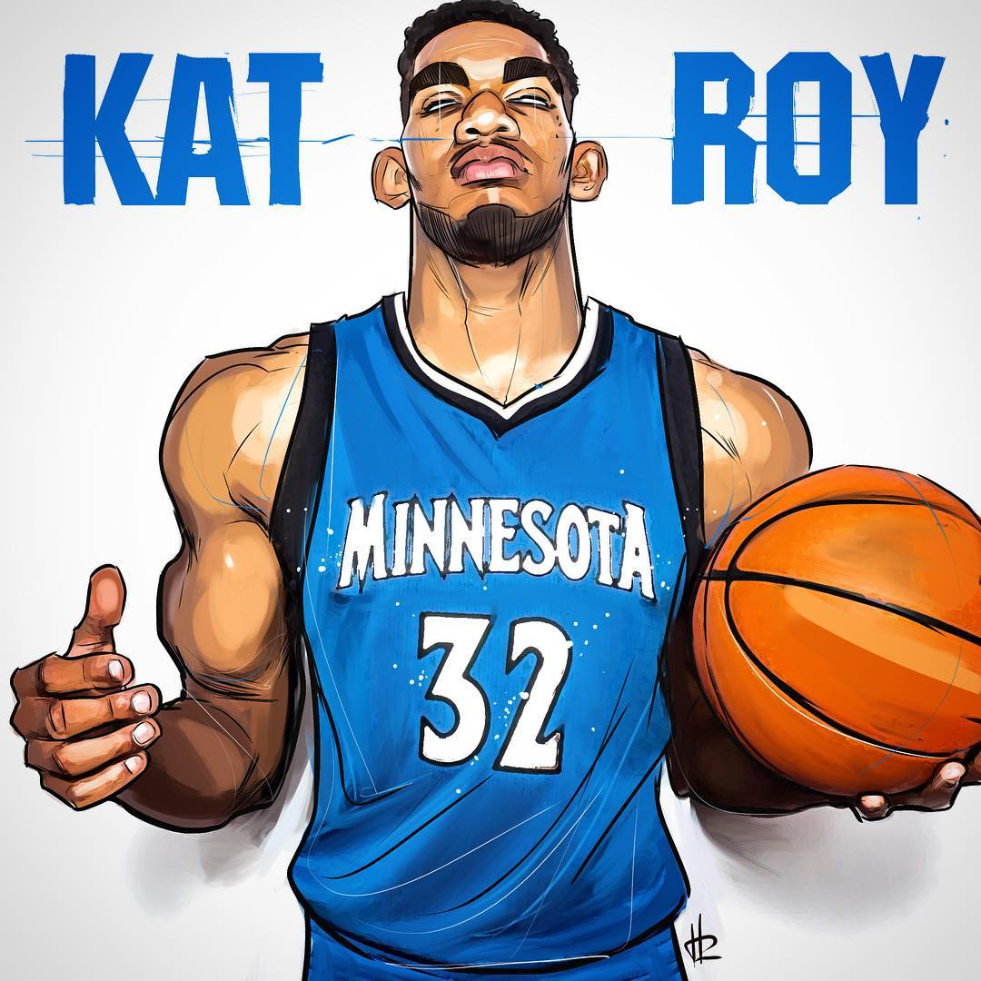 Karl-Anthony Towns KAT ROY Illustration
