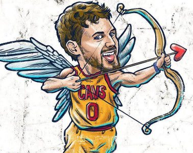 Kevin Love Cherub Baller Illustration