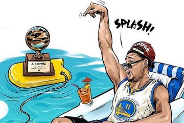 Klay Thompson Splash and Chill Illustration