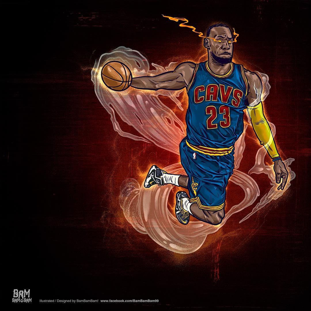 LeBron James Heat Seeking Vision Illustration