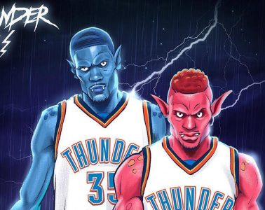 OKC Thunder x Monstars Illustration