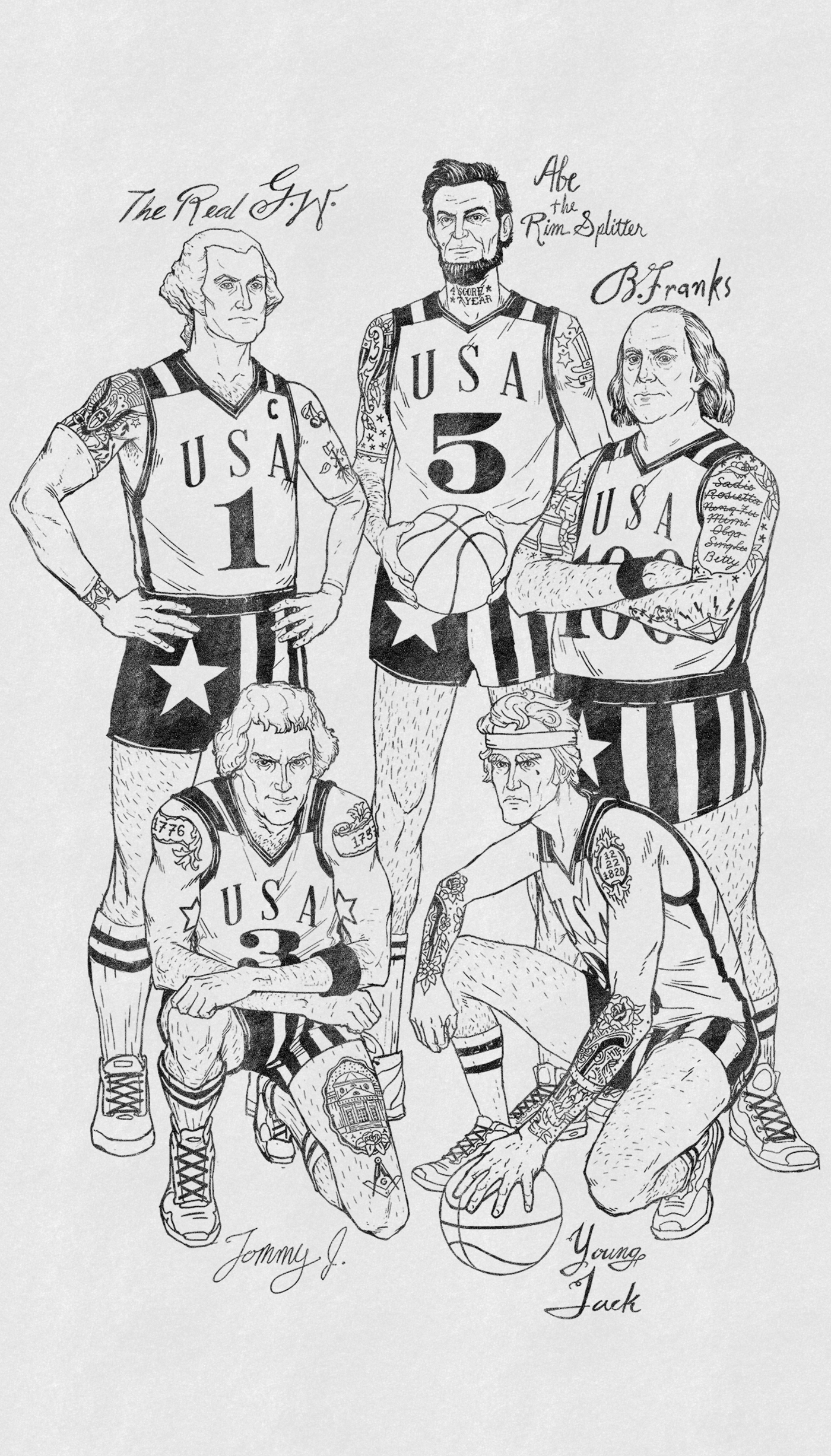 The Original Dream Team Illustration