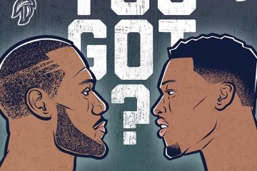 Raptors vs Cavaliers Who Ya Got Illustration