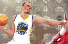 Stephen Curry and the Bulls Illustration