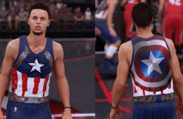 Stephen Curry x Captain America NBA 2K16 Uniform