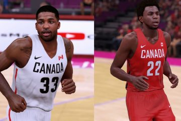 Team Canada NBA 2K16 Uniforms