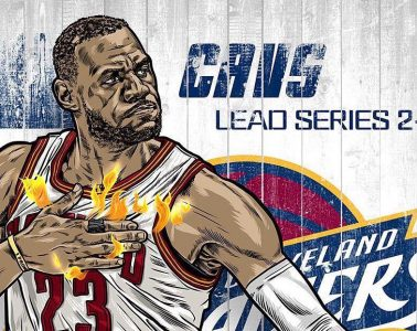 Undefeated King James Illustration