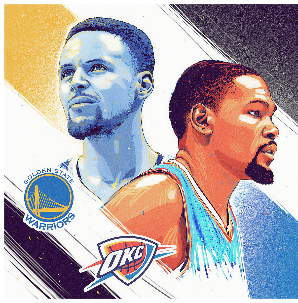 Golden State Warriors vs OKC Thunder WCF Portrait