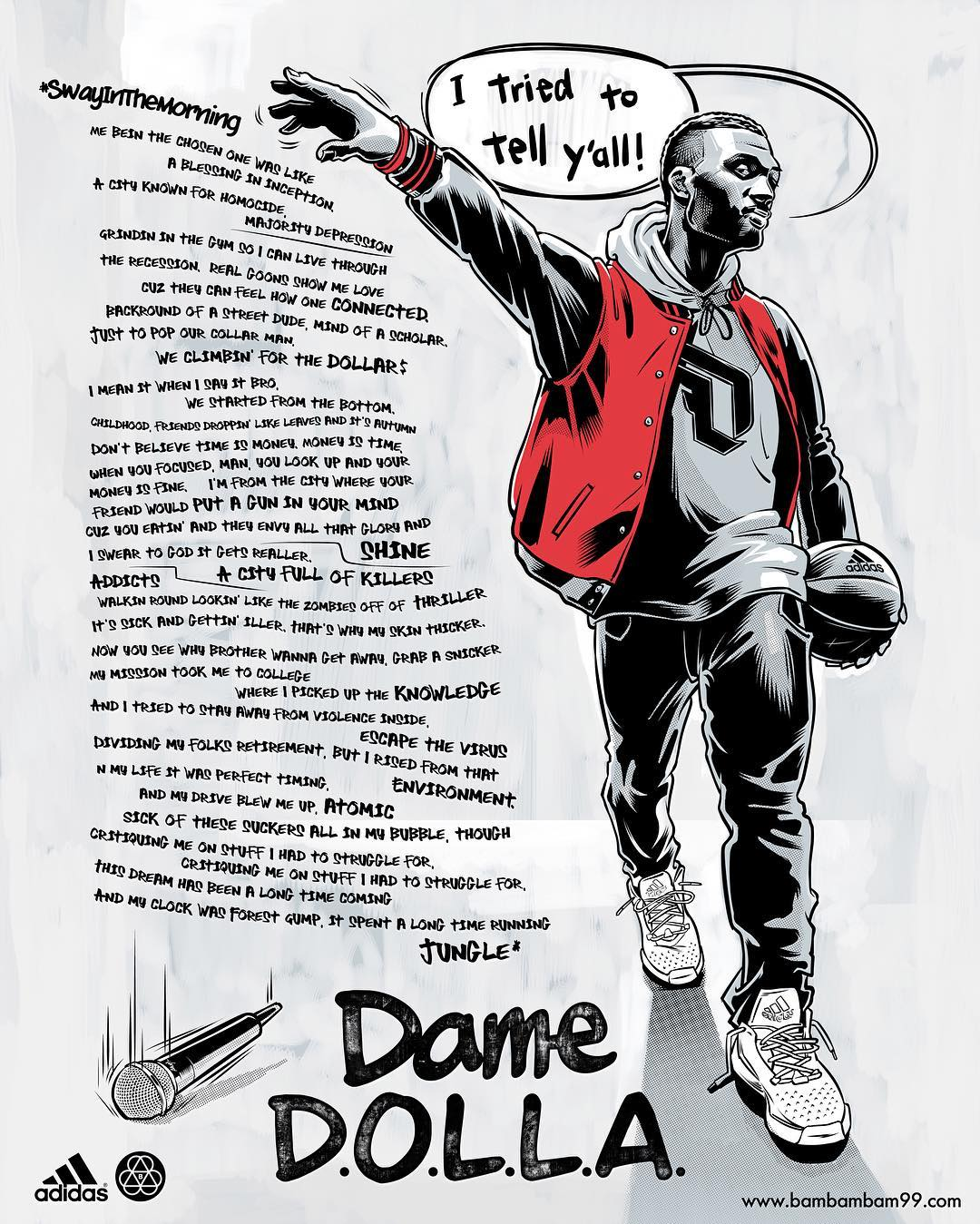 Damian Lillard Freestyle Illustration