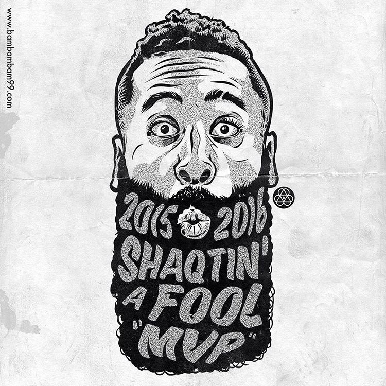 James Harden Shaqtin' MVP Illustration
