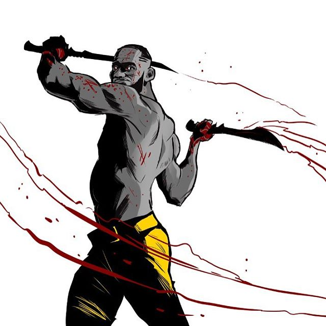 LeBron James The Barbarian Illustration