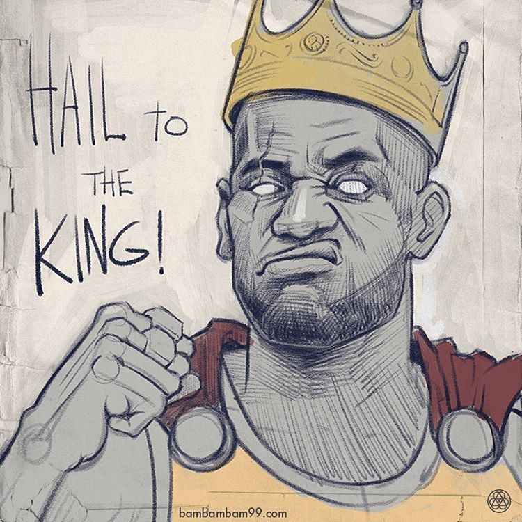 LeBron James Hail to the King Sketch