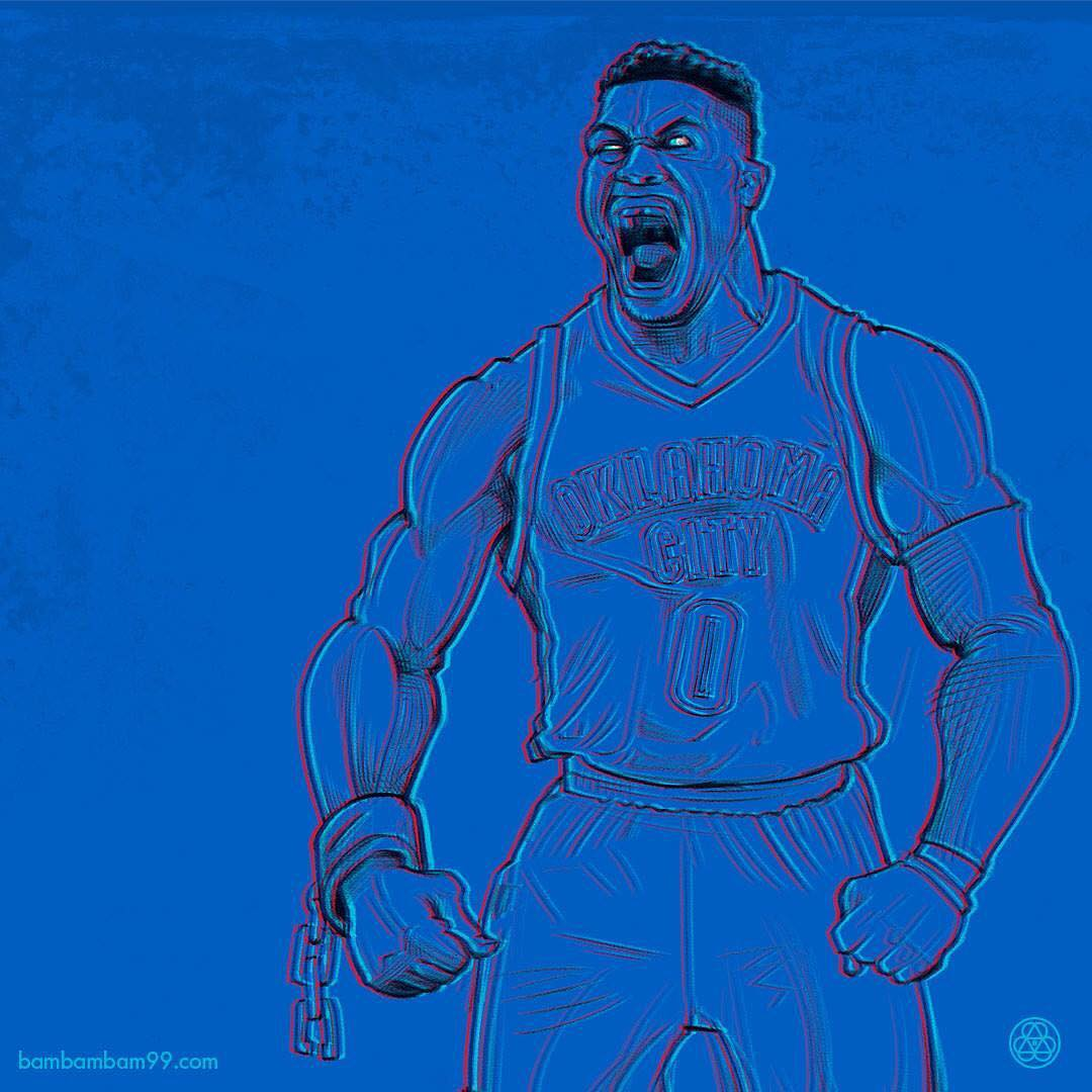 Russell Westbrook Ultraviolet Illustration