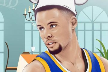 Stephen Curry Chef's VIP Menu Illustration