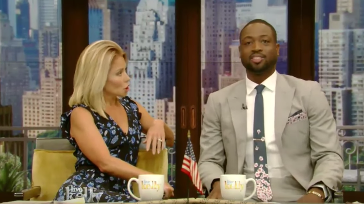 Dwyane Wade Plays Co-Host On Live with Kelly!