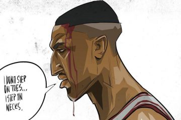Scottie Pippen Step On Necks Illustration