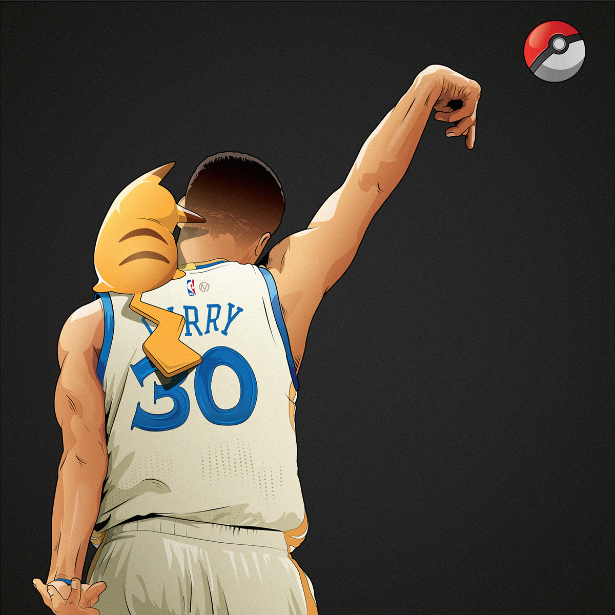 Stephen Curry x Pokemon Go Illustration