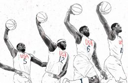 2016 USA Basketball Action Illustration