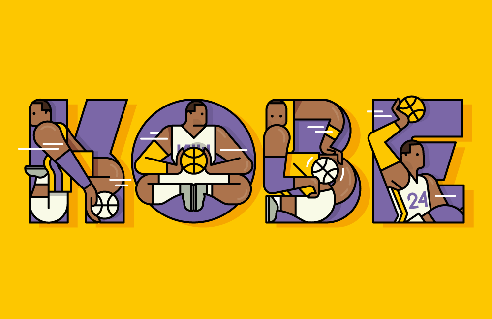 Kobe Bryant Tribute Typography