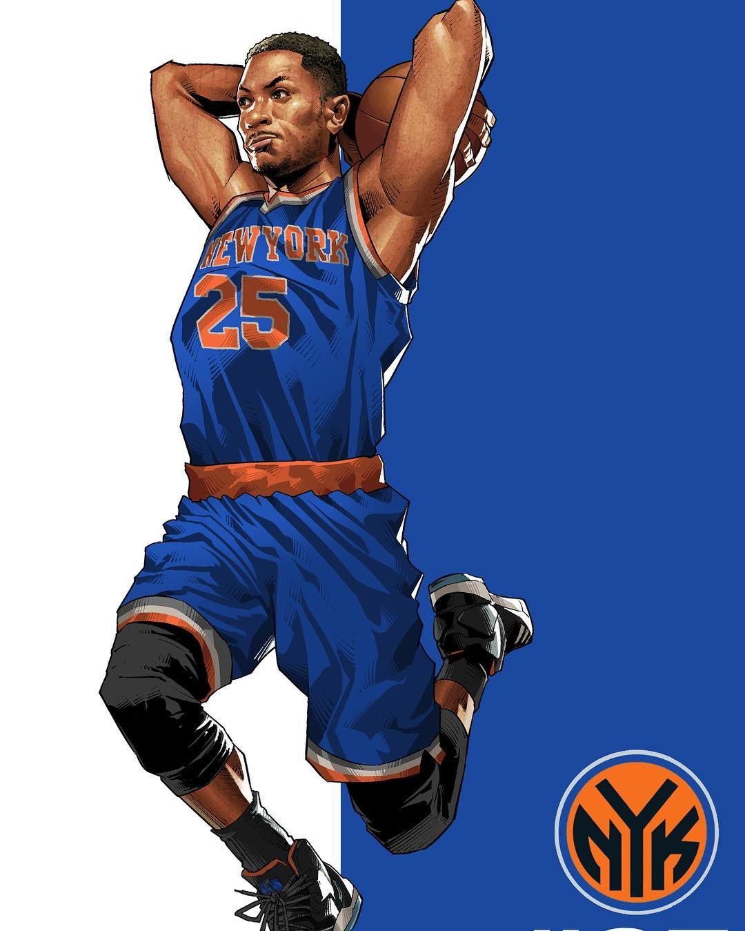 Derrick Rose Take Flight Illustration