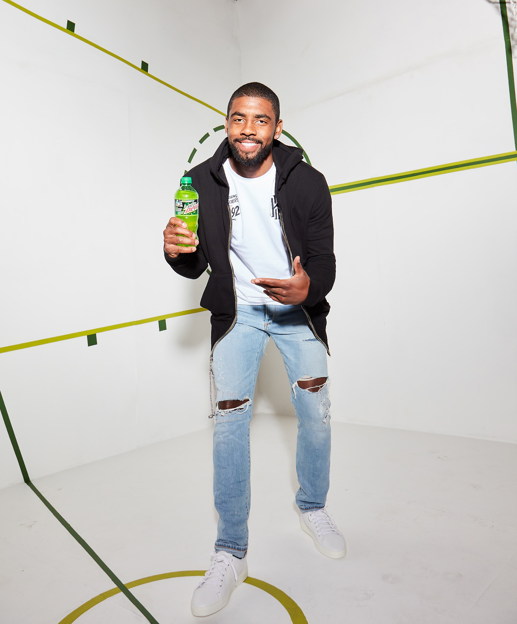Kyrie Irving Joins Russell Westbrook On Team Mtn Dew