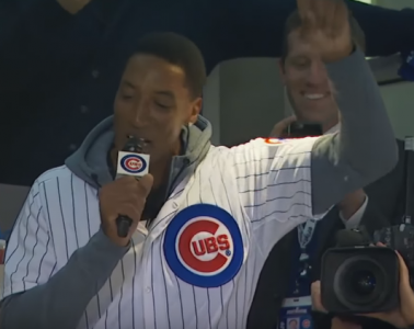 Scottie Pippen Butchers the Best Part of a Chicago Cubs Game