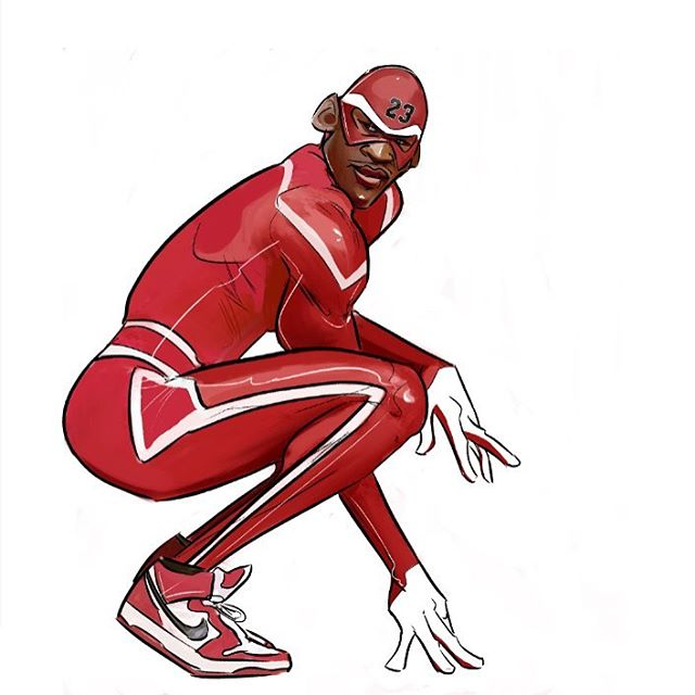 The Amazing Michael Jordan Illustration