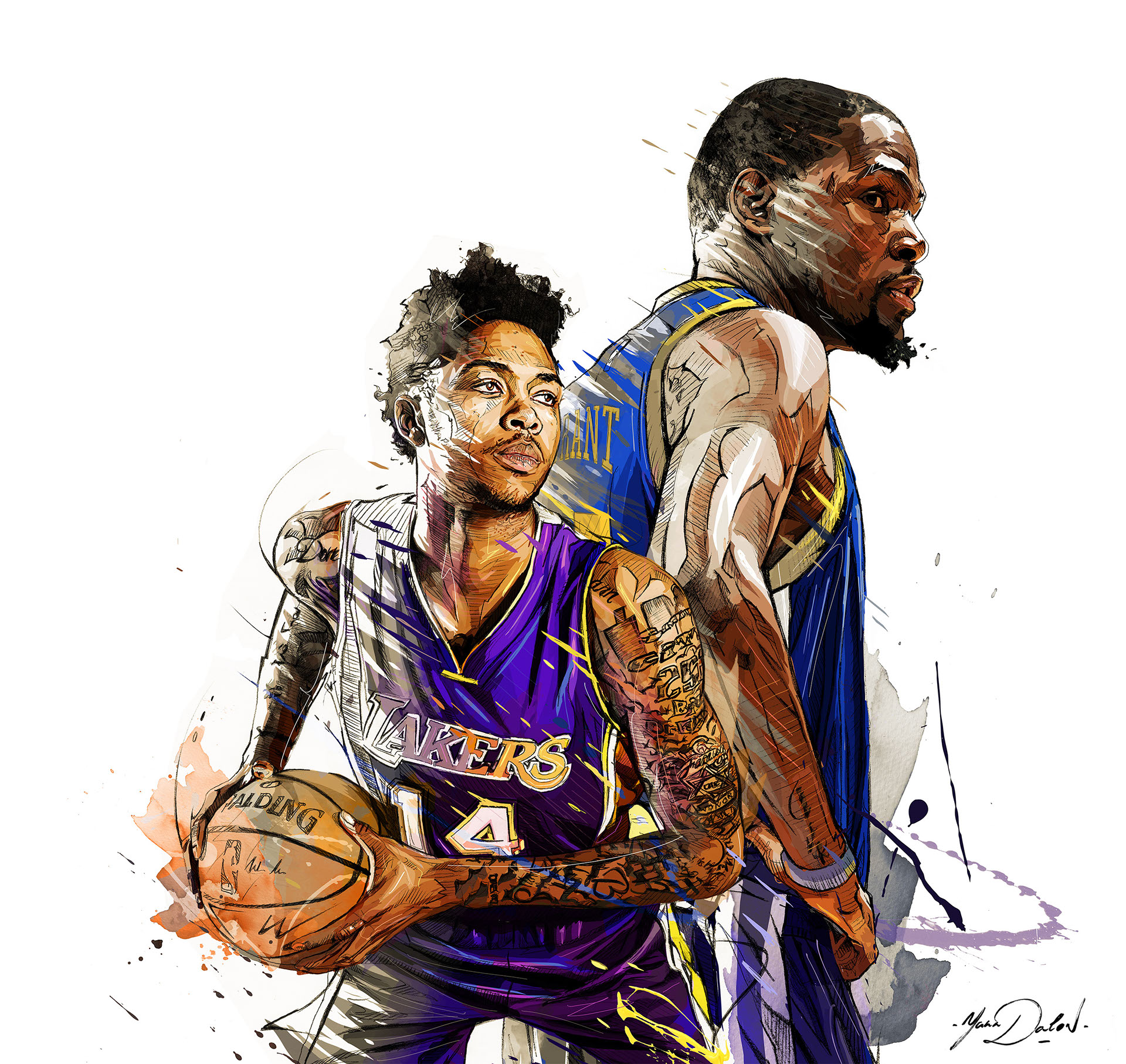 Days Of Future Past Kevin Durant x Brandon Ingram Illustration