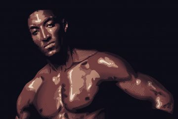 Scottie Pippen 90's Basketball Ad Illustration