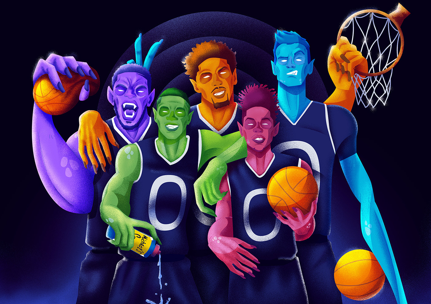 Young Monstars of Today Illustration