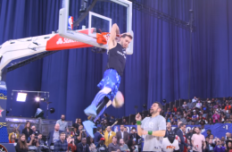 Celebrity Game Halftime Dunk Expo