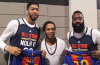 Football Legend Ronaldinho Meets NBA All Stars