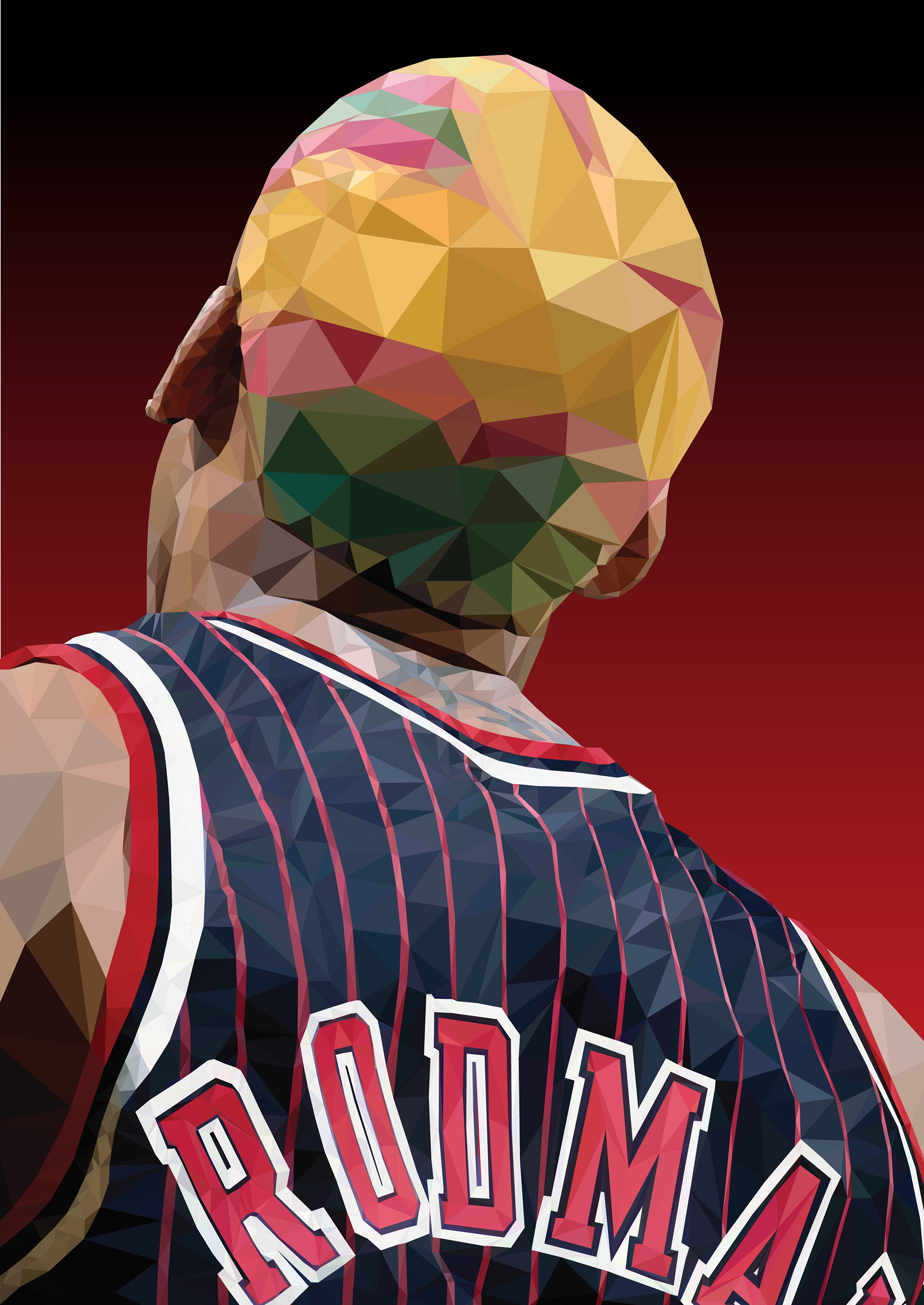 Dennis Rodman Geometric As I Wanna Be Illustration