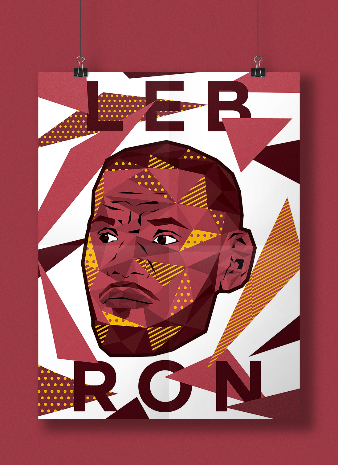 Low Poly NBA Superstars Pop Art