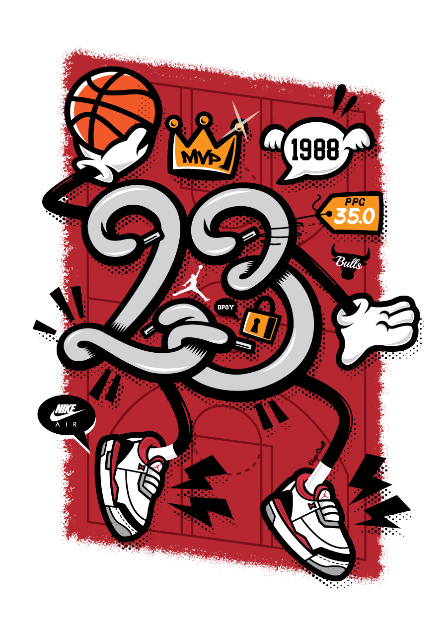 Michael Jordan AJ3 Celebration Illustration