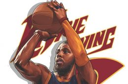 Kyrie Irving Winning Time Illustration