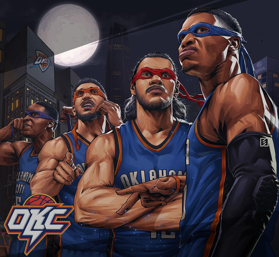 OKC x TMNT Illustration