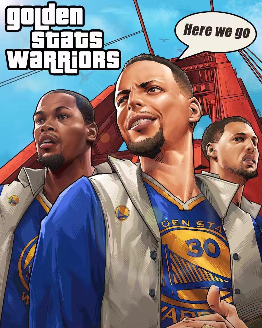 Warriors Grand Sweep Auto Illustration